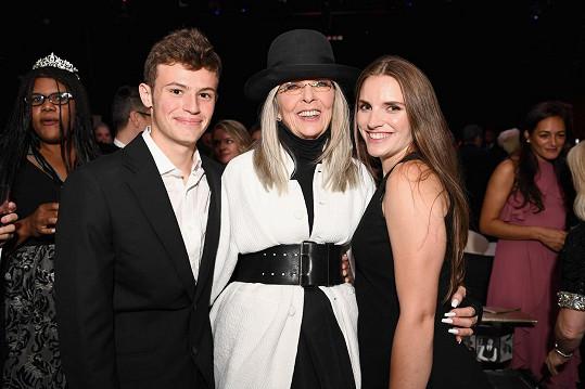 Diane Keaton s dětmi Dexter a Dukem