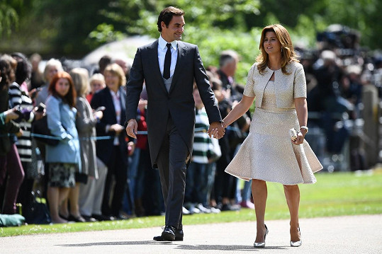 Roger Federer s manželkou Mirkou