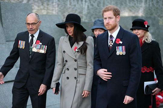 Meghan a Harry uctili památku obětí válek z Austrálie a Nového Zélandu.