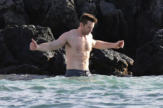 Hugh Jackman na dovolené na Havaji