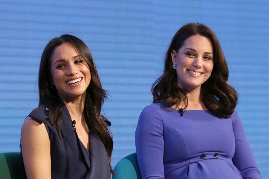 Kate se švagrovou Meghan, manželkou prince Harryho