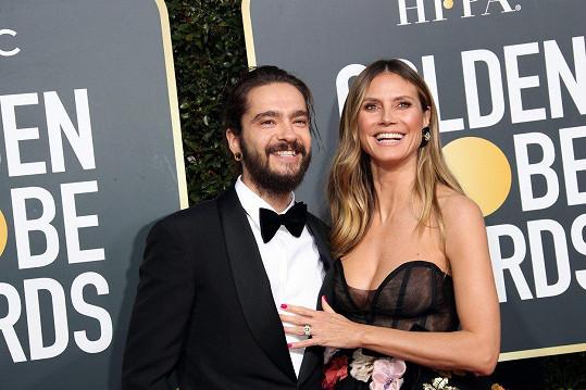 Heidi se snoubencem Tomem Kaulitzem