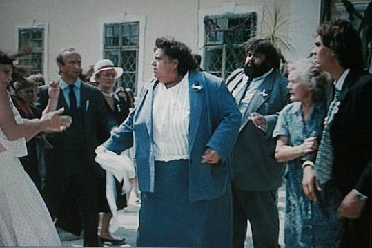 Jako Škopková ve filmu Slunce, seno a pár facek (1989)