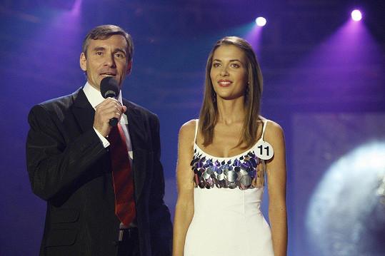 Kateřina Pospíšilová v roce 2006 na Miss ČR