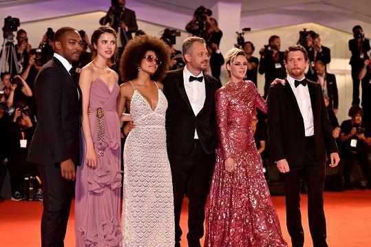 S kolegy z filmu Seberg na premiéře v Benátkách