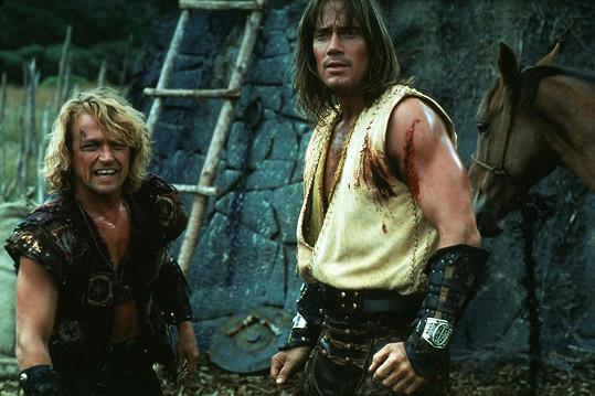 Michael Hurst a Kevin Sorbo v seriálu Herkules