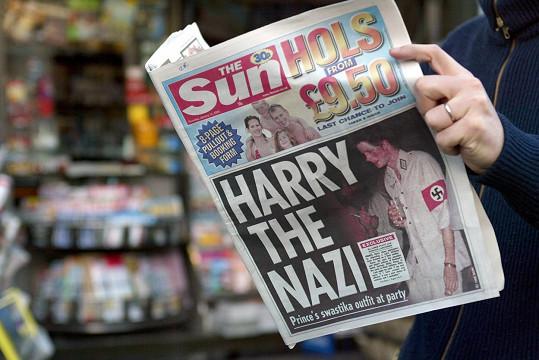 Jeden z nejhorších Harryho přešlapů. V roce 2005 si na akci oblékl nacistický kostým.