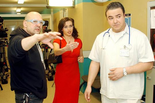 V seriálu Rodinná pouta s kolegyní Danou Morávkovou.