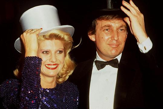 Donald Trump s Ivanou v době, kdy byli ještě manželé.