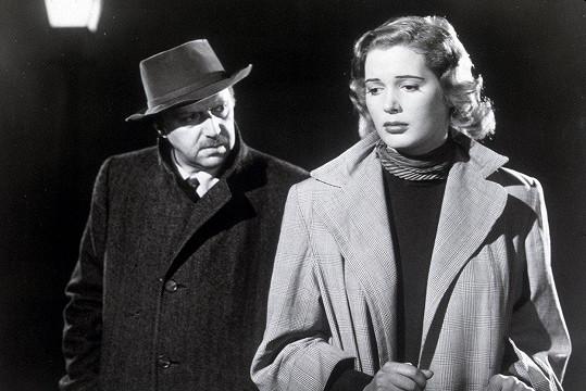 Hugo Haas a Beverly Michaels v americké verzi filmu Hlídač č.47 (1951) podle románu Josefa Kopty.