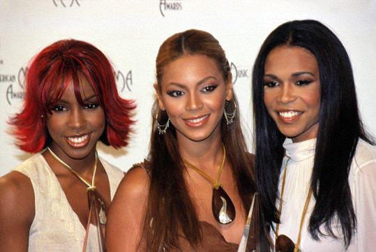 Zleva: Kelly Rowland, Beyoncé a Michelle Williams.
