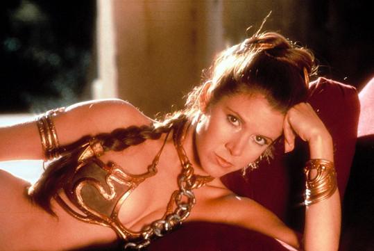 Herečka jako princezna Leia ze Star Wars