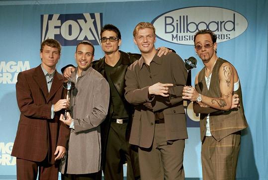 Nick s kolegy z kapely Backstreet Boys v době jejich největší slávy