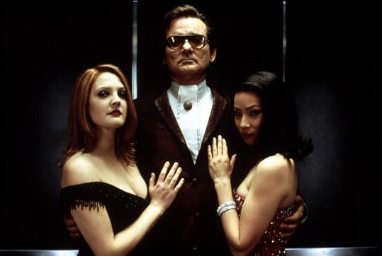 Lucy Liu (vpravo), Bill Murray a Drew Barrymore v Charlieho andílcích