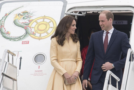 William s Catherine dnešním dnem započali návštěvu Bhútánu.