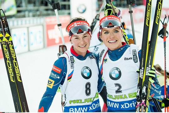 Veronika Vítková a Gabriela Koukalová