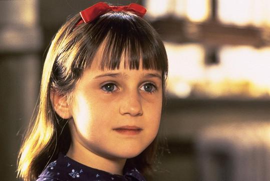 Mara proslula v rodinných filmech z 90. let, na snímku ve filmu Matilda.