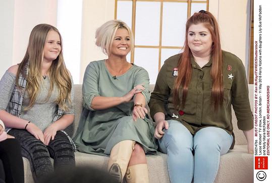 Kerry Katona se objevila s dcerami v pořadu Loose Women.