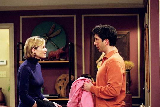 David Schwimmer a Bonnie Somerville jako Ross a Mona