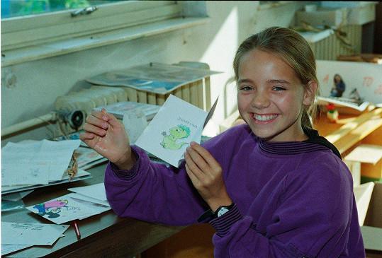 Lucie Vondráčková projevila talentu už jako holčička.