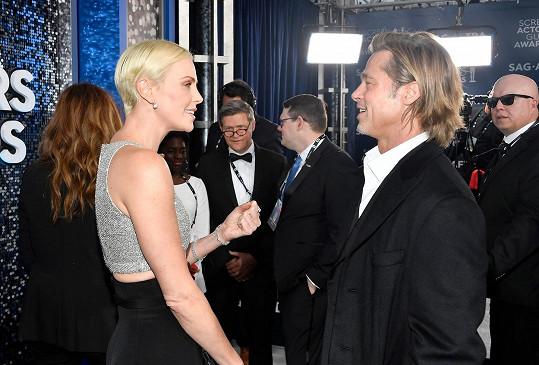 Na udílení SAG Awards se potkal i s Charlize Theron.