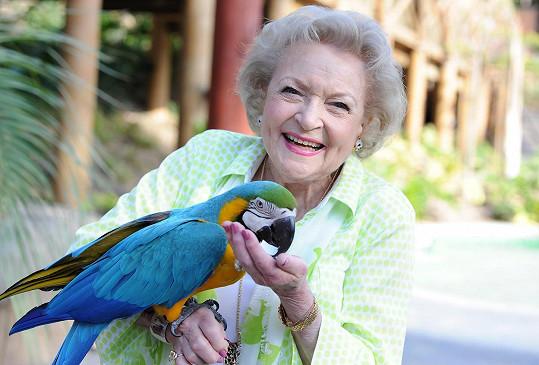 Betty White se v USA těší mimořádné popularitě.