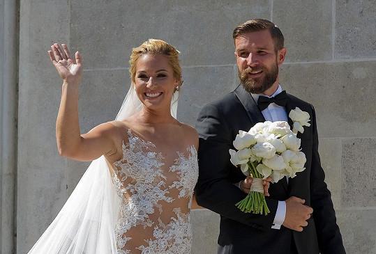 Dominika Cibulková se provdala za Michala Navaru.