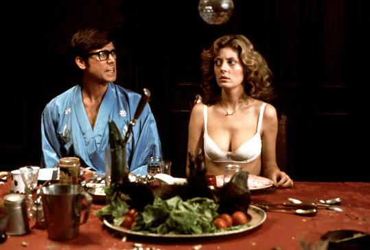 Susan Sarandon s Barrym Bostwickem ve filmu Rocky Horror Picture Show