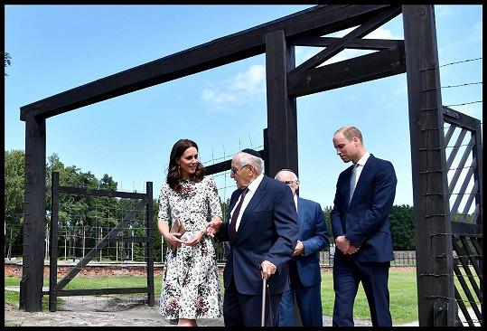 Vévodkyně Kate a princ William na návštěvě koncentračního tábora Stutthof
