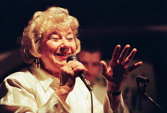 Vlasta Průchová byla vynikající jazzovou zpěvačkou.