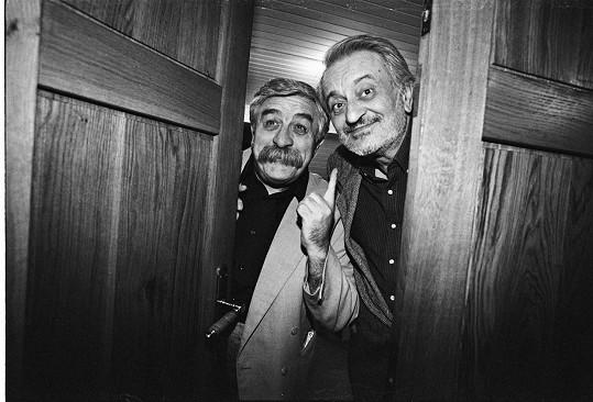 Július Satinský se svým letitým přítelem a kolegou Milanem Lasicou