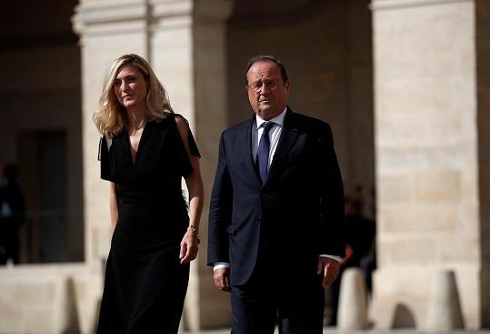 Francouzský exprezident Francois Hollande a jeho partnerka Julie Gayet.