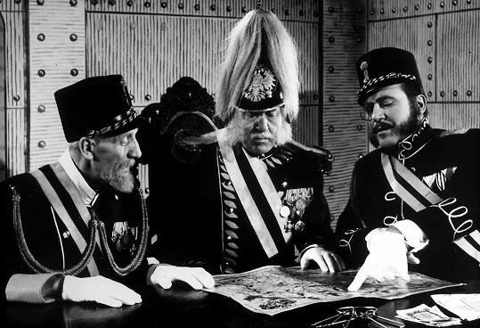 Václav Wasserman, Eduard Kohout a Zdeněk Dítě ve filmu Ukradená vzducholoď
