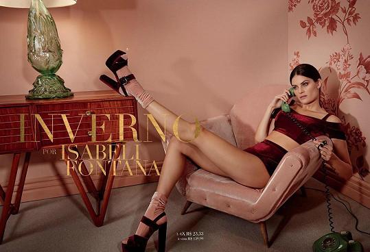 Isabeli Fontana je žádanou brazilskou modelkou.