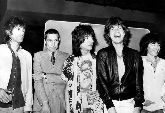 Rolling Stones na snímku z roku 1978 (Bill Wyman vpravo)