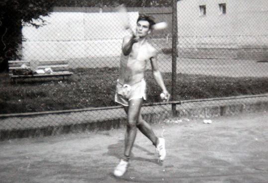 Jiří Macháček jako mladý tenista