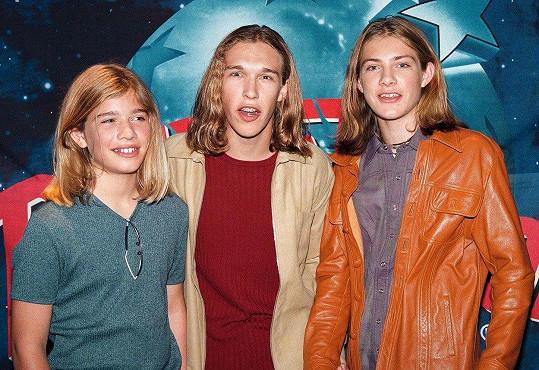 Zac, Taylor a Isaac v roce 1998