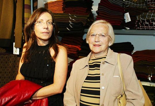 Martina Menšíková se svou maminkou Olgou v roce 2005