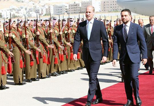Princ William je na návštěvě Jordánska.