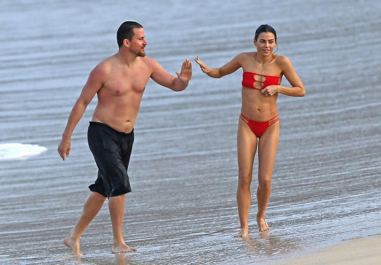 Channing a jeho žena na Havaji