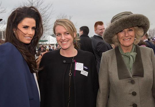Vévodkyně Camilla s dcerou a modelkou Katie Price