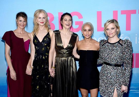 Mezi kolegyněmi ze Sedmilhářek našla i přítelkyně. Zleva: Laura Dern, Nicole Kidman, Shailene Woodley, Zoë Kravitz a Reese