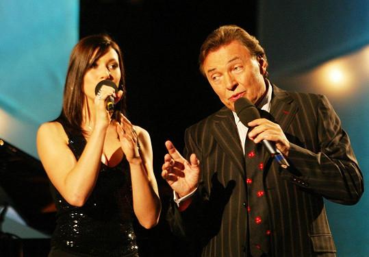 Tereza Kerndlová a Karel Gott na archivním snímku