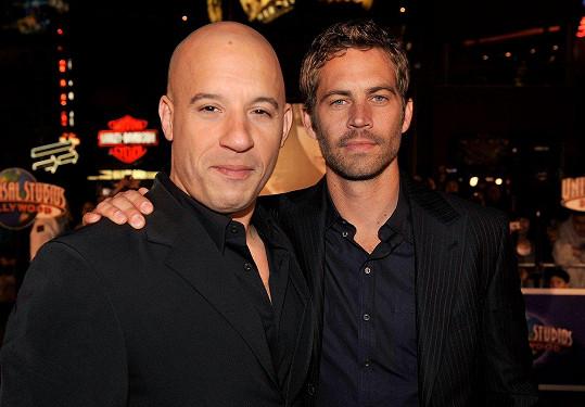 Paul Walker s přítelem Vinem Dieselem, který je zároveň kmotrem Meadow.