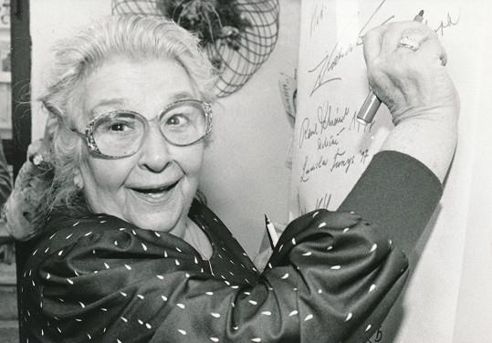 Stella Zázvorková byla sympatická dáma s nezdolným temperamentem.