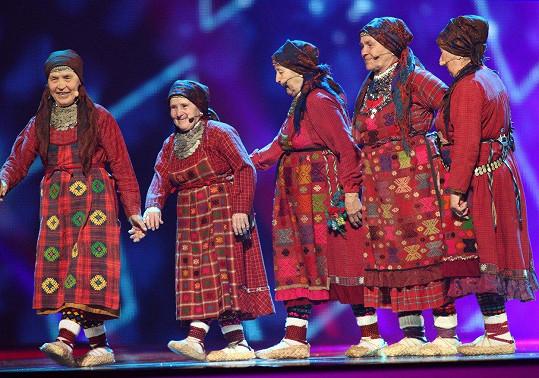 Ruské seniorky Buranovo Grannies taky.