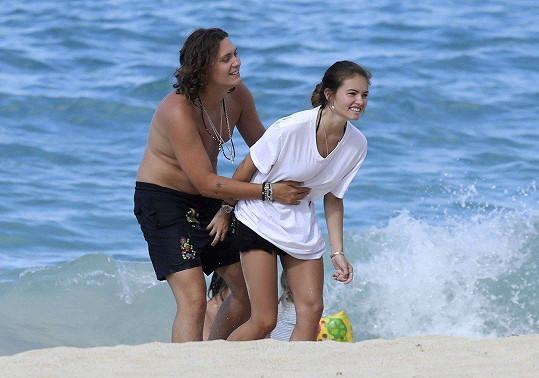 Thylane Blondeau s partnerem na dovolené.