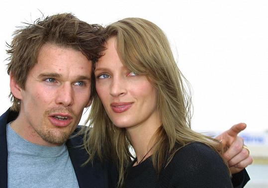 Ethan Hawke byl sedm let ženatý s herečkou Umou Thurman.