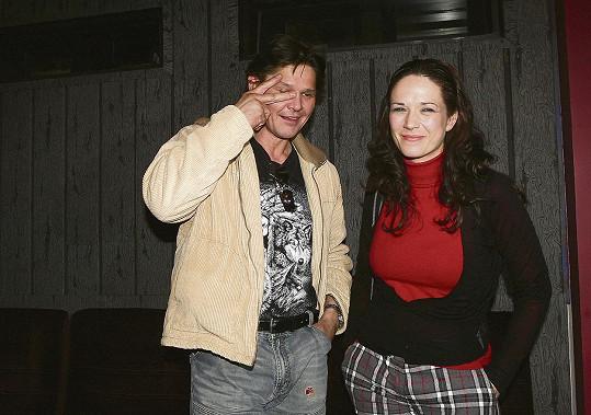 Herec Martin Havelka na archivním snímku s Terezou Kostkovou