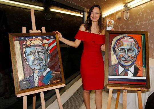 Gelemová uspořádala výstavu svých obrazů a grafik.